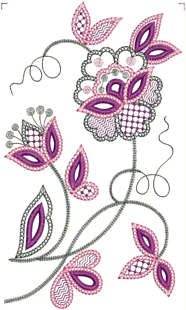 Вышивка цветочные мотивы 9