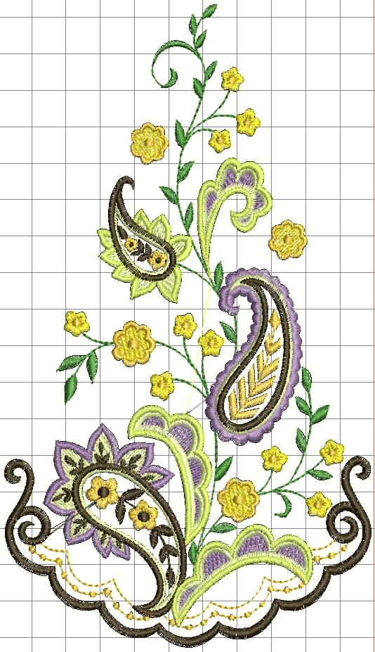 Вышивка цветочные мотивы 7
