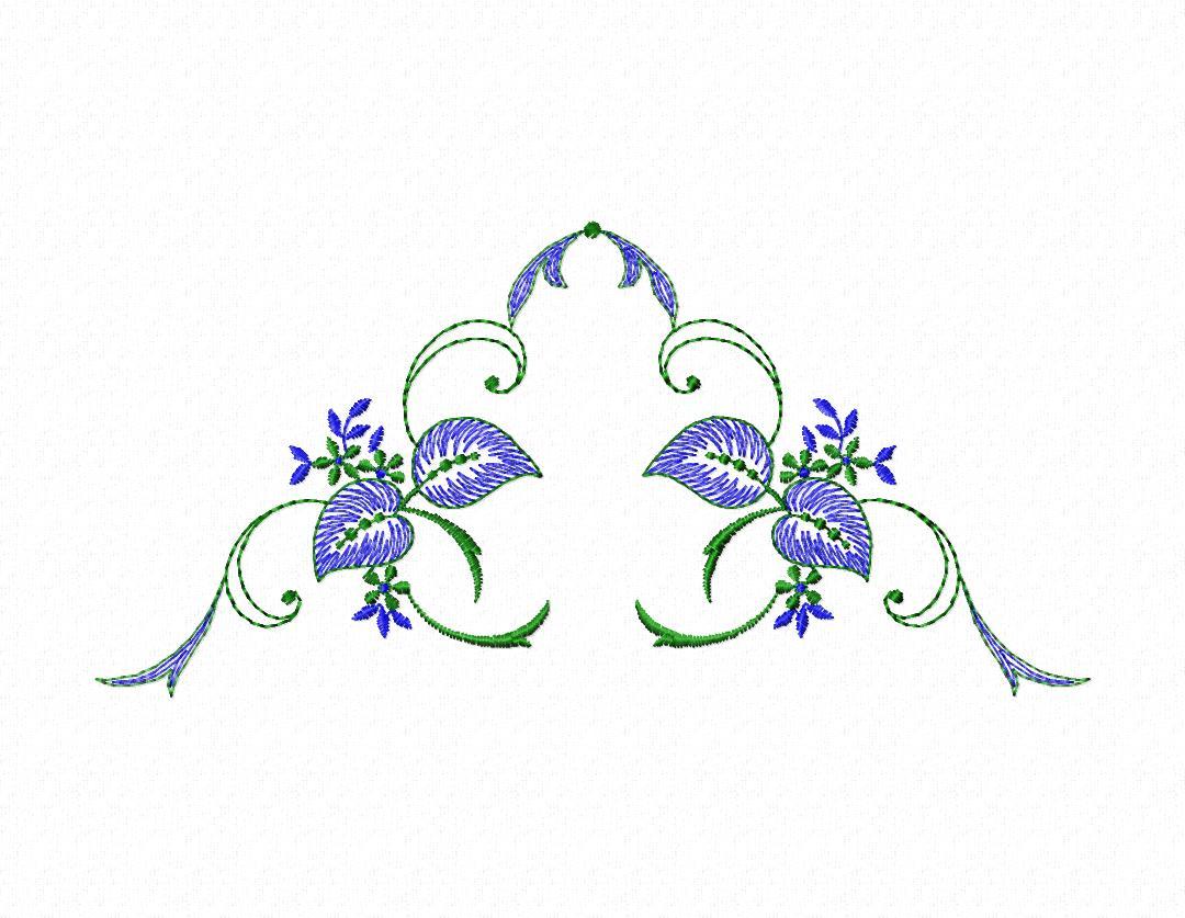 Вышивка цветочные мотивы 61
