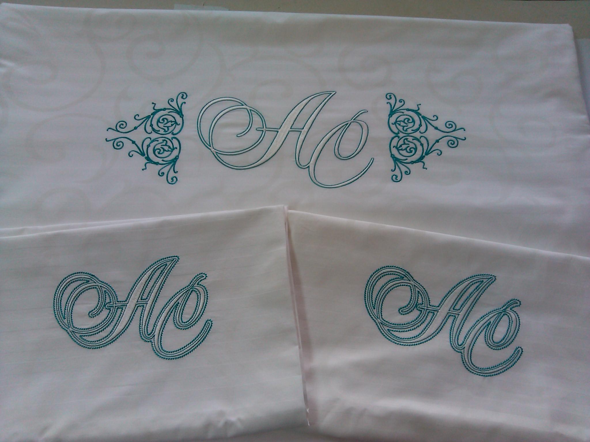 Вышивка на постельном белье - Промвышивка